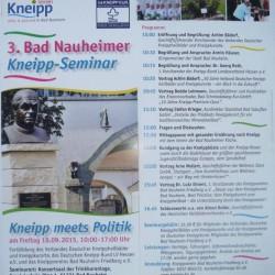 "Flyer des Bad Nauheimer Kneipp-Seminar 2015 ""Kneipp meets Politik"""