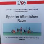 Konferenzband zum 24. Sportwissenschaftlichen Hochschultag in Berlin 2019